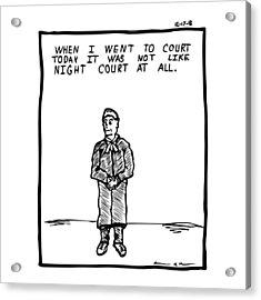 Night Court Comic Acrylic Print by Karl Addison