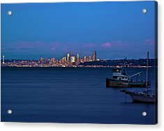 Night Descending On Seattle Acrylic Print by Dale Stillman