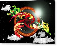 Night Dragon Acrylic Print
