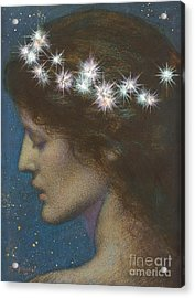 Night Acrylic Print by Edward Robert Hughes