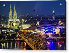 Night Falls Upon Cologne 2 Acrylic Print