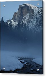 Acrylic Print featuring the photograph Night Falls Upon Half Dome At Yosemite National Park by Jetson Nguyen