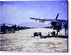 Korean War Night Fighters Acrylic Print by John Corrigan