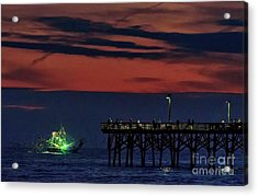 Night Fishing Acrylic Print