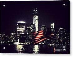 Night Flag Acrylic Print