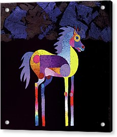 Acrylic Print featuring the painting Night Foal by Bob Coonts
