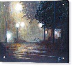 Night Fog Acrylic Print by Victoria Heryet