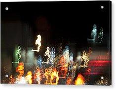 Night Forest - Light Spirits 1 Of 1 Acrylic Print