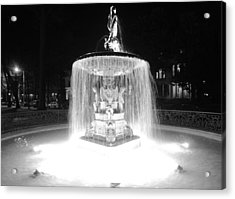 Night Fountain Acrylic Print