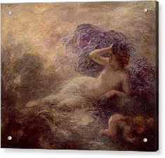 Night Acrylic Print by Ignace Henri Jean Fantin Latour