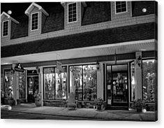 Night In Blue Ridge Georgia In Black And White Acrylic Print