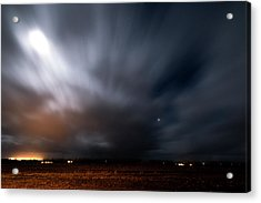 Acrylic Print featuring the photograph Night In Iceland by Dubi Roman