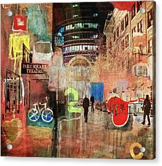 Acrylic Print featuring the photograph Night In The City by Susan Stone