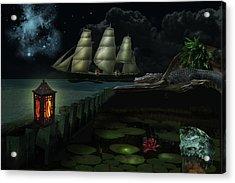 Night Lights Acrylic Print by Kathleen Stephens