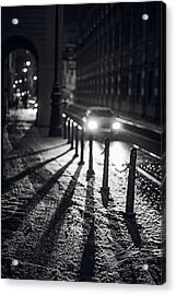 Acrylic Print featuring the photograph Night Lights. Prague by Jenny Rainbow