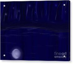 Acrylic Print featuring the painting Night Lights by Roxy Riou