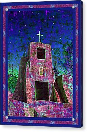 Night Magic San Miguel Mission Acrylic Print by Kurt Van Wagner