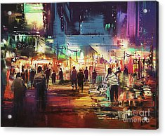 Night Market Acrylic Print