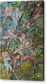 Night Night Acrylic Print by Claudia Cole Meek