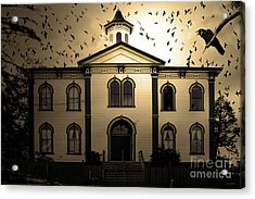 Acrylic Print featuring the photograph Night Of The Birds . Sepia . 7d12487 by Wingsdomain Art and Photography