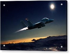 Night Of The Eagle Acrylic Print by Peter Chilelli