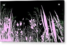 Night Of The Flowers Acrylic Print by Evelyn Patrick