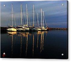 Night On Paros Island Greece Acrylic Print by Colette V Hera  Guggenheim