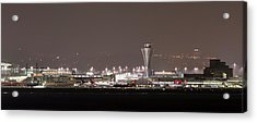 Acrylic Print featuring the photograph Night Operations by Alex Lapidus