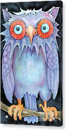 Night Owl Acrylic Print by Lora Serra