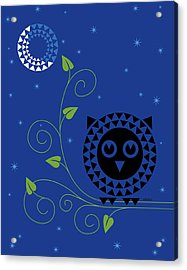 Night Owl Acrylic Print by Ron Magnes