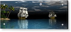 Night Passage Acrylic Print by Claude McCoy