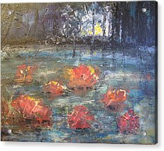 Night Pond Acrylic Print