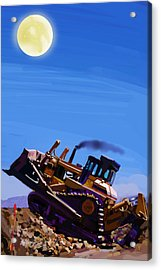 Night Push Acrylic Print by Brad Burns