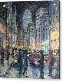 Night Rain Acrylic Print by Henry Potwin