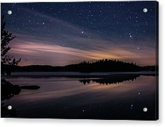 Night Reflections On Pharaoh Lake Acrylic Print