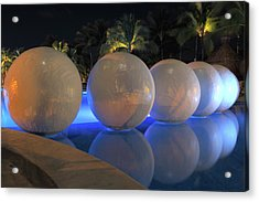 Acrylic Print featuring the photograph Night Reflections by Shane Bechler