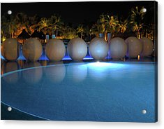 Acrylic Print featuring the photograph Night Resort by Shane Bechler