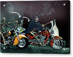 Night Riders Acrylic Print by Steven Agius