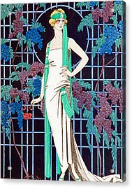 Night Rose Acrylic Print by Georges Barbier