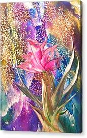 Night Rose Acrylic Print by John Vandebrooke