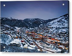 Night Scene In Park City. Acrylic Print