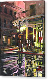 Acrylic Print featuring the painting Night Shift by Amzie Adams