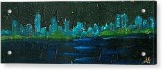 Night Shore Acrylic Print by Jorge Delara