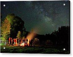 Night Sky Fire Acrylic Print by Matt Helm