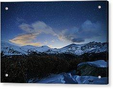 Night Sky Over Bierstadt Mountain Acrylic Print