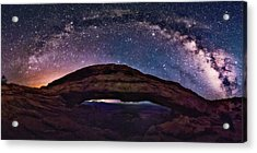 Night Sky Over Mesa Arch Utah Acrylic Print