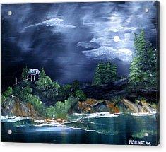 Night Sky Acrylic Print by Rebecca  Fitchett