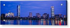 Night, Skyline, Back Bay, Boston Acrylic Print by Panoramic Images