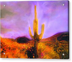 Acrylic Print featuring the painting Night Star by FeatherStone Studio Julie A Miller
