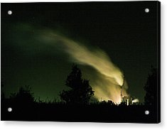 Acrylic Print featuring the photograph Night Steaming by Odille Esmonde-Morgan